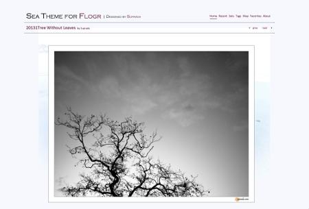 Sea Theme for Flogr responsive image