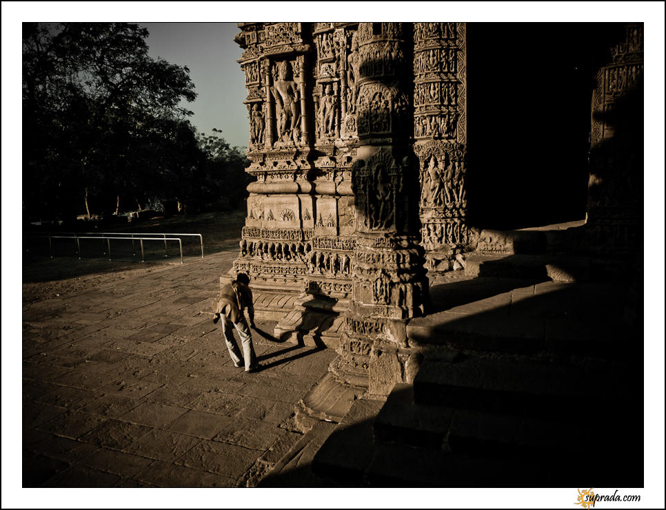 The Sweeper - People at Modhera Series