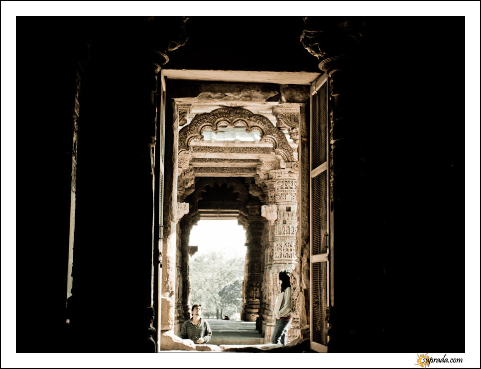 Looking Around - People at Modhera Series