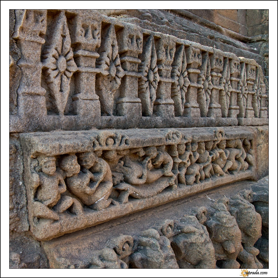 Rows of carvings